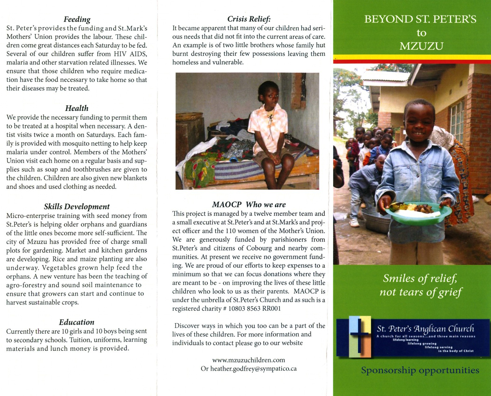 mzuzu children brochures